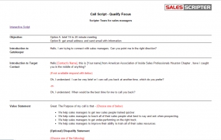 sales script example examples of sales and call scripts part 2. Black Bedroom Furniture Sets. Home Design Ideas