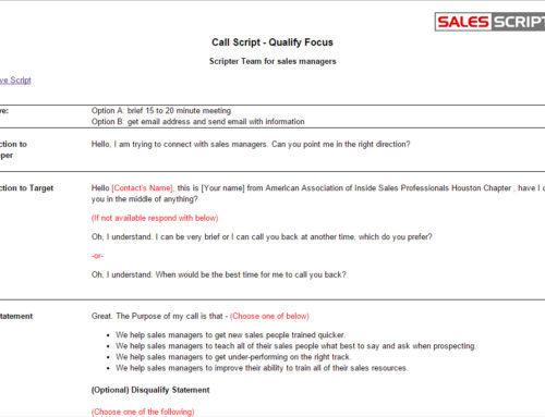 How to structure a sales call template salesscripter for Cold call script template