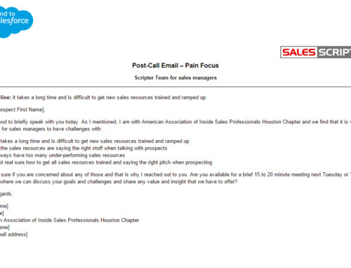 Here are Two Sales Email Templates