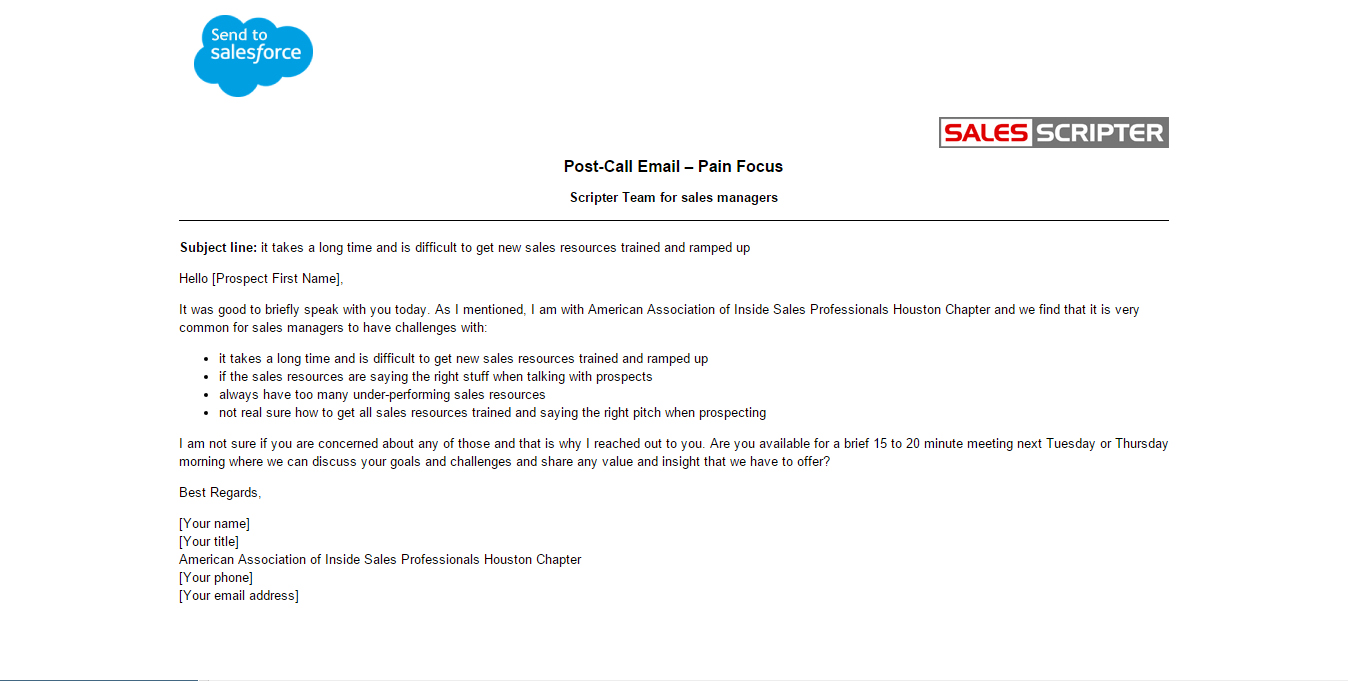 Here Are Two Sales Email Templates - Prospecting email template